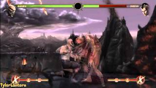 MK9 - Baraka 89% Damage X-RAY Combo - Mortal Kombat 9 (2011)