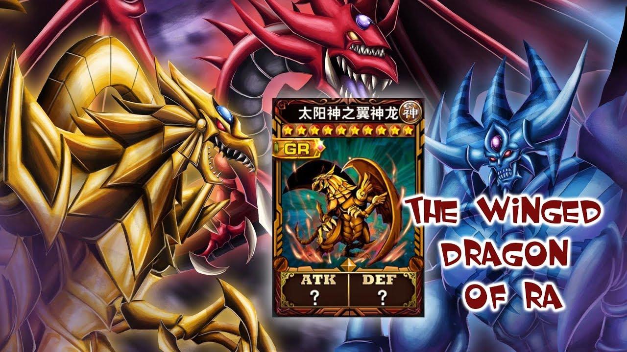 Lá bài vị Thần Ra-The Winged Dragon Of Ra Phần 2[1 trong 3 lá bài thần Vua  Trò Chơi YUGIOH]
