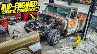 Hiding a MID-ENGINED CORVETTE Under Our Old Rare Pickup Truck Body (Budget SUPERCAR!)