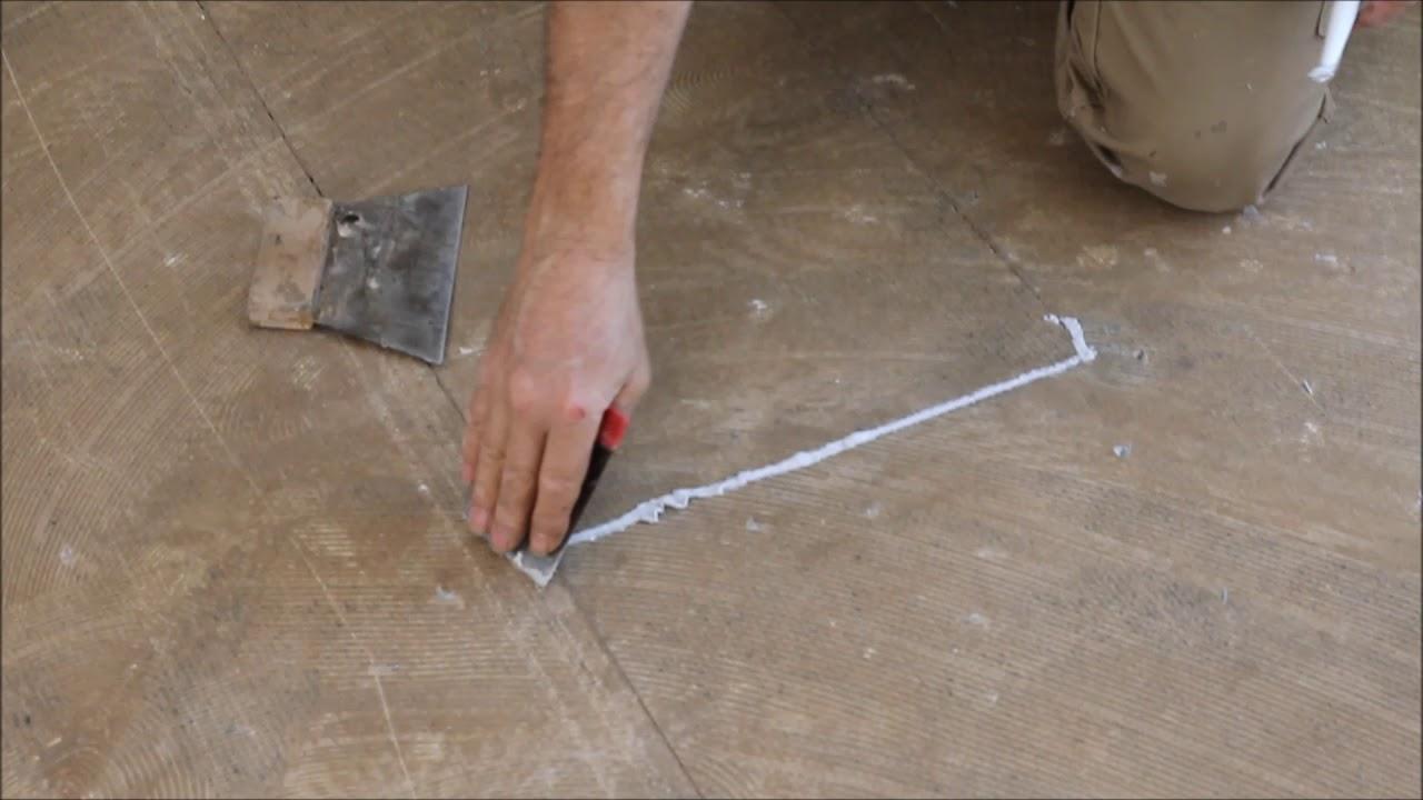korkboden verlegen schritt 1 acryl auftragen. Black Bedroom Furniture Sets. Home Design Ideas