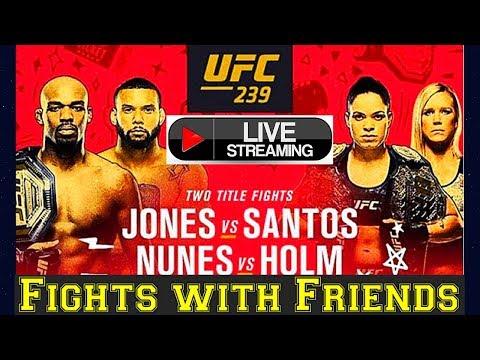 UFC 239 Jones vs Santos Live Fights with Friends reaction!