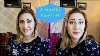8 Months RawTill4 Vegan Weight Gain, Acne, Anxiety: My Story w/ pics