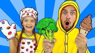 Do You Like Broccoli Ice Cream? | Super Simple Songs | Nursery Rhymes | Canciones infantiles