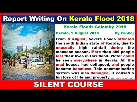 Report Writing on Kerala Flood 2018