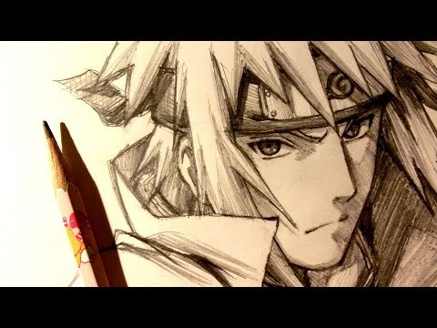 ASMR | Pencil Drawing 106 | Minato Namikaze (Request)