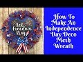 Independence Day Crafts: Independence Day Deco Mesh Wreath