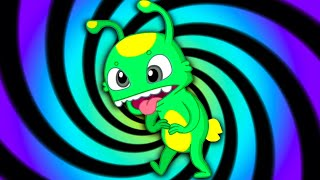 Groovy The Martian HYPNOTIC THEME PARK  Full episodes! Cartoon for kids & Nursery Rhymes