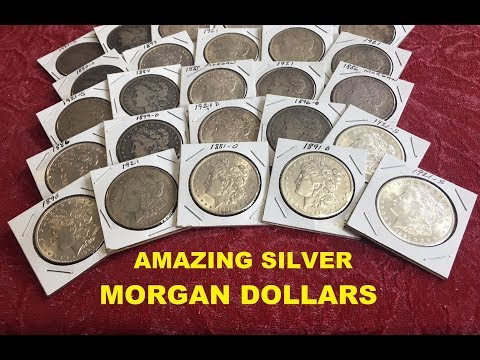 RARE AND VALUABLE SILVER MORGAN DOLLARS WORTH MONEY! KEY DATES, VARIETY& MORE VIEWERS SUGGESTED VID!