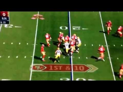 Green Bay packers vs 49ers Quentin Rollin's #24 goes for hard hit on Carlos hyde