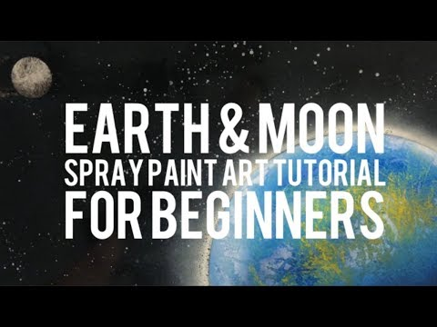 Earth and Moon Spray Paint Art Tutorial For Beginners - By Aerosotle thumbnail