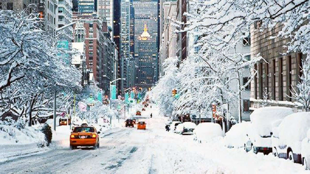 Image result for snowy city