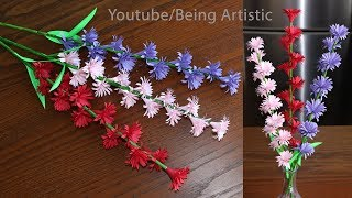 Paper Flower Stick - DIY - Paper Craft - Handcraft