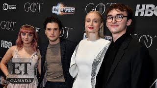 Sophie Turner, Kit Harington Step Out For 'Game Of Thrones' Belfast Premiere