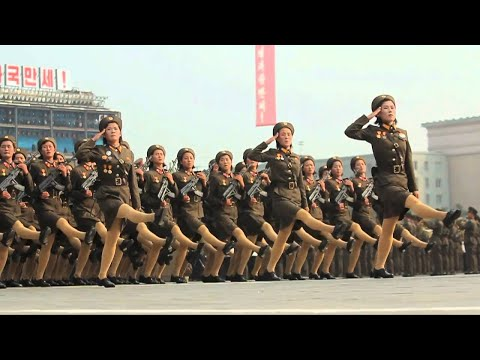 North Korea's Slow Motion Military - North Korea Parade In Slow Motion
