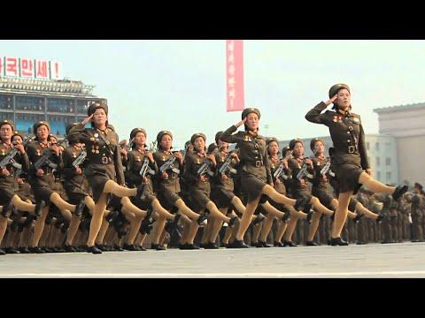 North Korea's Slow Motion Military - North Korea parade in Slow Motion