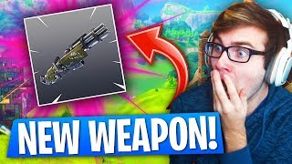 CRAZY NEW WEAPON IN Fortnite: Battle Royale! (New Fortnite UPDATE!)