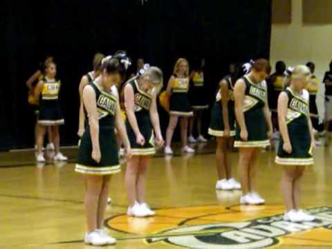 Middle School Cheerleaders  pep rally  YouTube