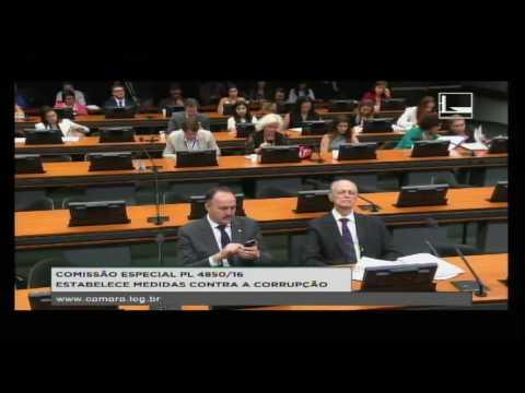 PL 4850/16 - ESTABELECE MEDIDAS CONTRA A CORRUPÇÃO - Reunião Deliberativa - 05/09/2016 - 14:39
