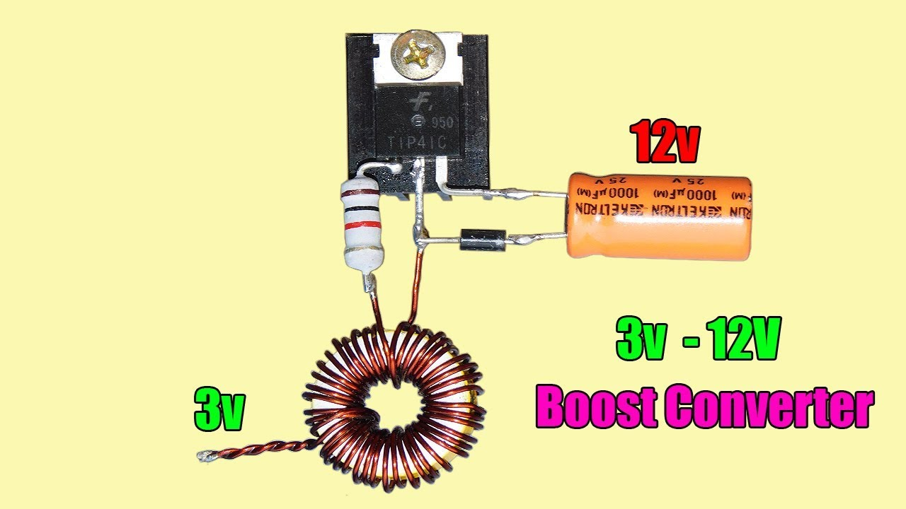 DIY 3v To 12v Boost Converter Circuit | DC To DC Converter