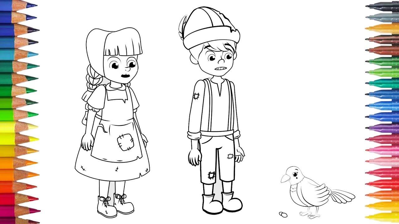 Hänsel Und Gretel Zeichnung Ausmalbilder Youtube