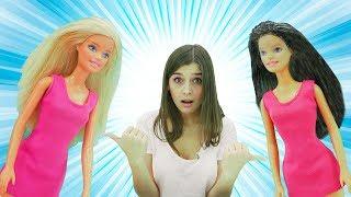 Видео про куклы: Барби покрасилась в тёмный