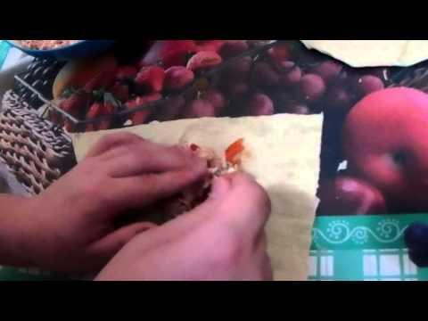 Сырные конвертики из лаваша