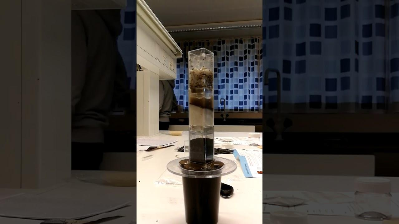 Vandrensningsforsøg 9.D Mudder Vand
