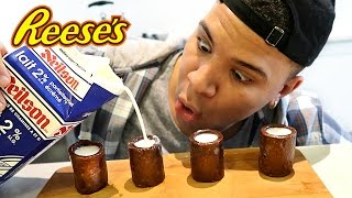 DIY REESES SHOT GLASS TASTE TEST