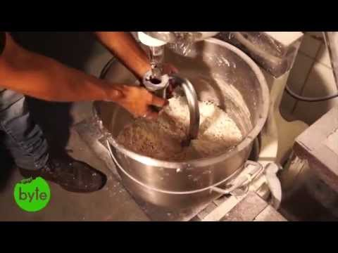 How to mix Donut Dough, Donut House, Hyderabad