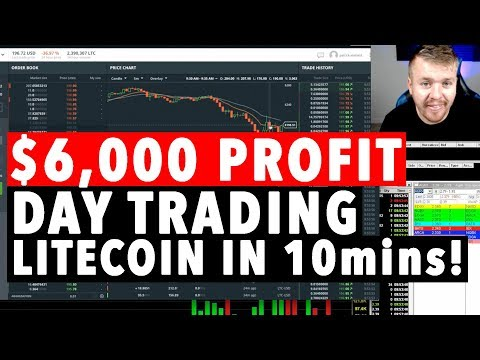 DAY TRADING LITECOIN! $6,000 PROFIT IN 10MINS!