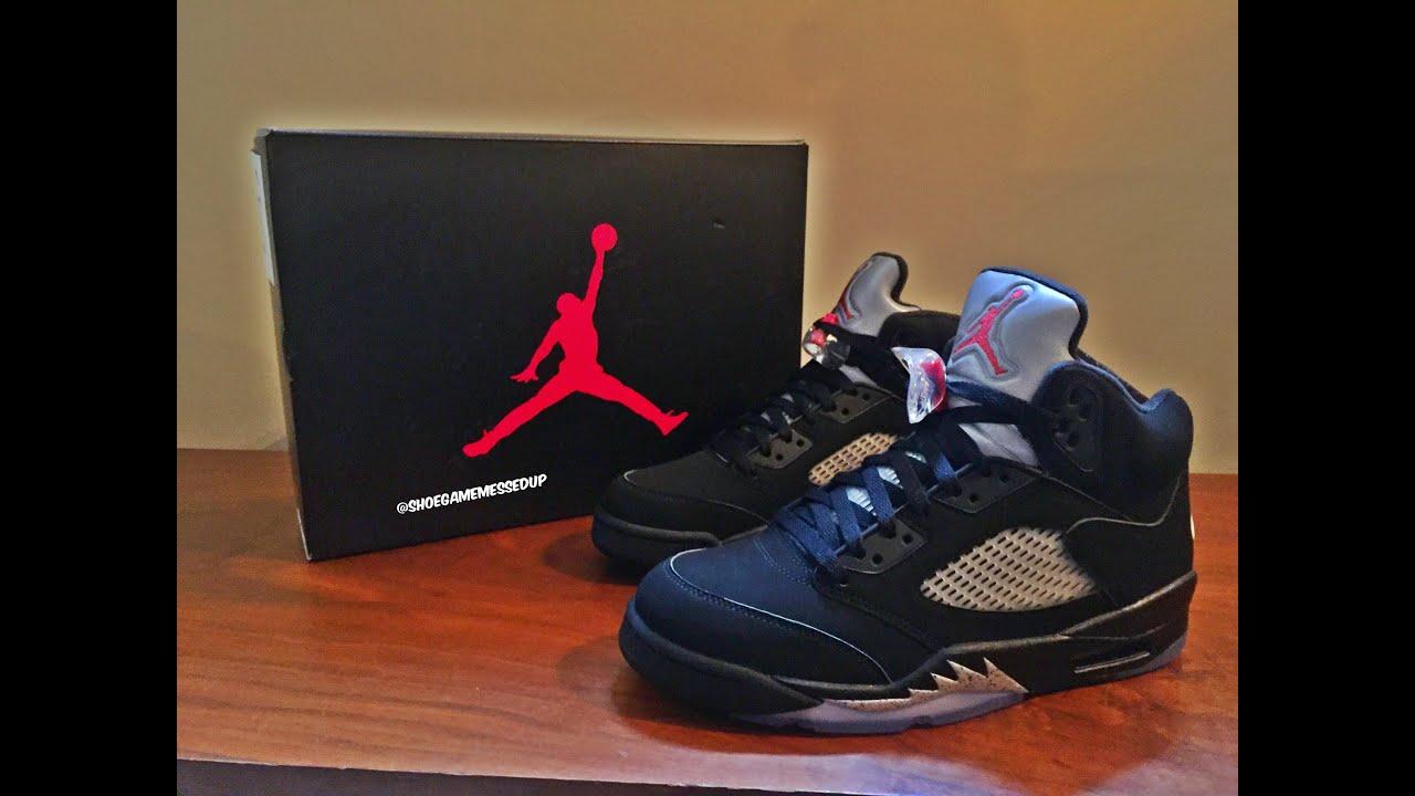 Jordan 5 V OG Metallic Black (Unboxing)   (Review) (HD) - YouTube 16036a692