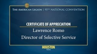 Lawrence Romo Selective Service Director