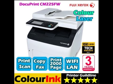 Review The Fuji Xerox Cm225fw Copying And Printing Youtube