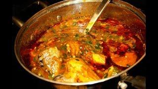 How to Make Ghana Mackerel And Shrimp Okra Or Okro Soup / Seafood Friendly / Obaapa Kitchen