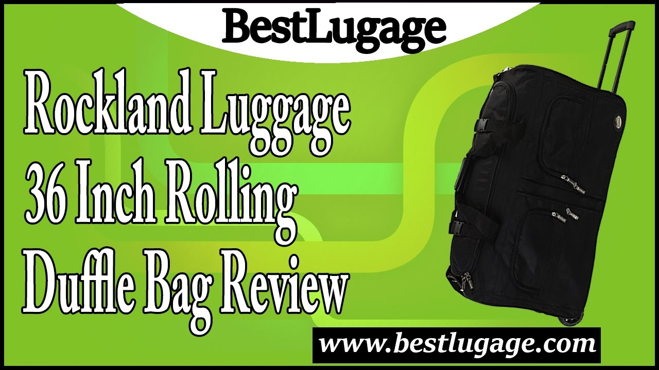 a6fb013fd6f4 Rockland Luggage 36 Inch Rolling Duffle Bag Review