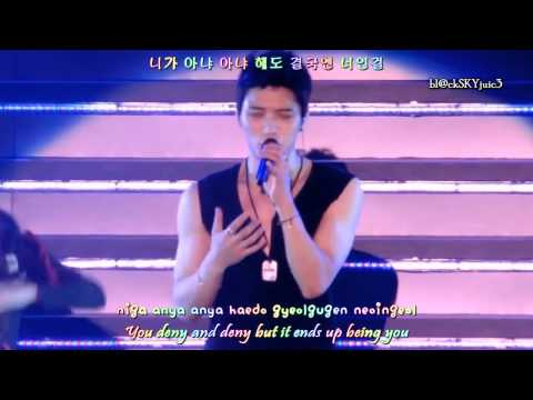 JYJ - Get Out LIVE [hangul + roman + eng sub]