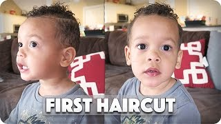 TODDLER'S FIRST HAIRCUT!!!