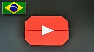 Origami: Botão Play do Youtube (Jo Nakashima) - Instruções em Português BR