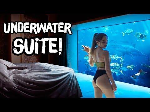 Dormimos En Una Habitación Debajo Del Agua! | Katy The Chic