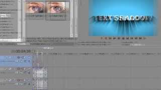 Sony Vegas Pro 11 Tutorial How to make Animated Light and Text Shadow