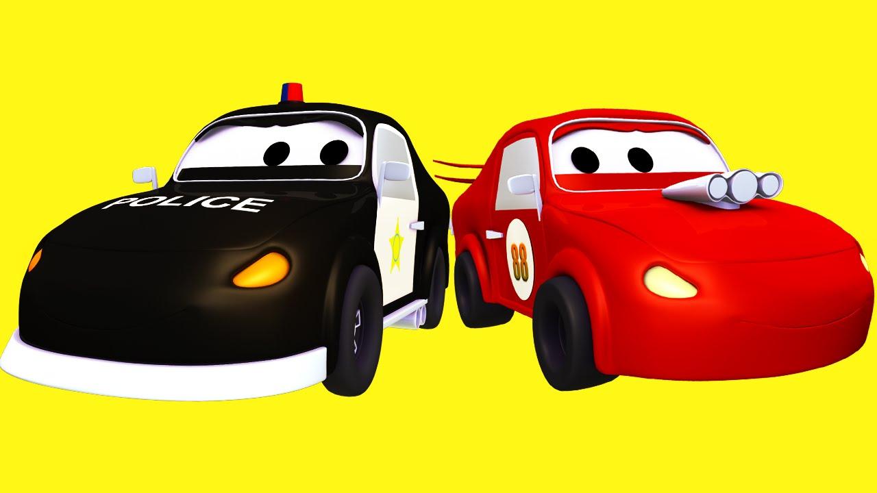 A Super Patrulha E Os Amigos O Carro De Corrida Vermelho E Mau Na
