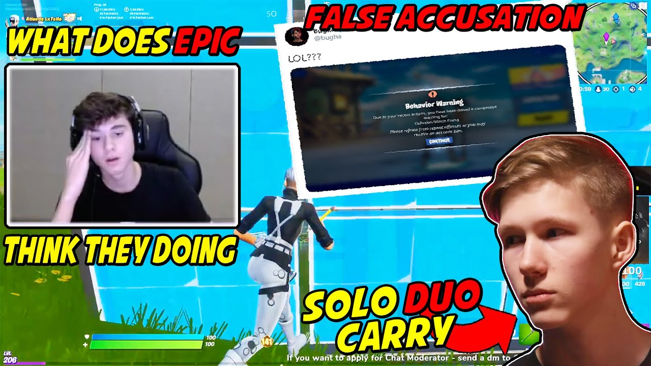 Bugha Is MAD At Epic For Receiving a Ban Warning Because of THIS & MrSavage's Duo Tournament Clutch