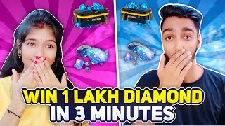 Win 1 Lakh Diamond in 3 Minutes Challenge 😍 Who Will Win || Free Fire