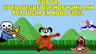 Top 8 Videojuegos que nos Humillan y Trollean por Jugar en Modo Fácil - Pepe el Mago