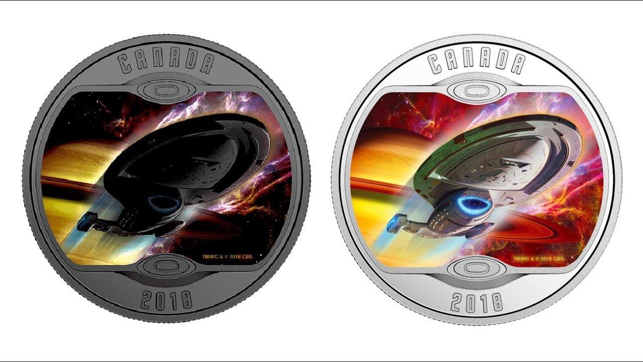 2018 Star Trek Enterprise NX-01 $10 1//2OZ Pure Silver Proof Coin Canada GlowDark
