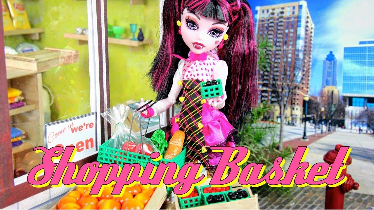 DIY   How To Make: Doll Shopping Basket   Handmade   Doll   Crafts.  MyFroggyStuff Part 49
