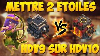 Mettre 2 étoiles sur HDV10 quand on est HDV9 | Clash Of Clans Français