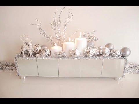 Centro de mesa navide o con espejos muy elegante y f cil for Centros de mesa navidenos elegantes