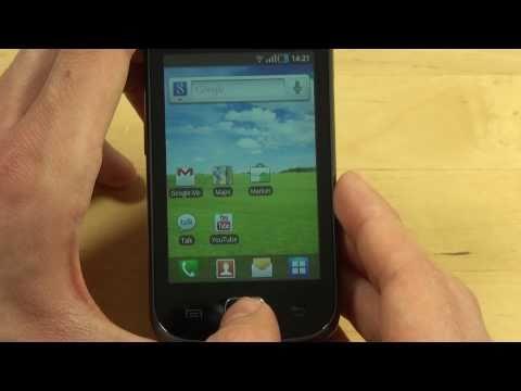 Samsung S5660 Galaxy Gio Test Bedienung