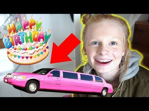 SHE WANTS A LiMO FOR HER BiRTHDAY!! 🎂
